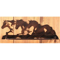 Wrought Iron Western Collection - Wall Mounted Horses Towel Bar