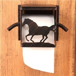 Wrought Iron Running Horse Collection -  Toilet Paper Holders