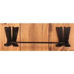 Wrought Iron CowBoy Boots Collection - Towel Holder