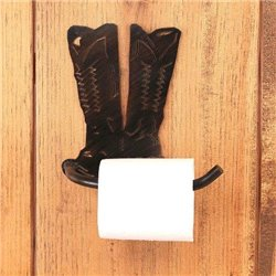 Wrought Iron CowBoy Boots Collection - Toilet Paper Holders