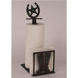 Wrought Iron CowBoy Boots Collection - Paper Towel / Napkin Holders