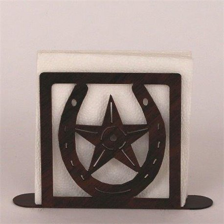 Wrought Iron Horseshoe / Star Collection - Paper Towel / Napkin Holders