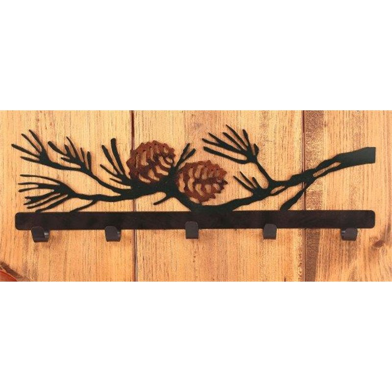 Wrought Iron Pine Cone Collection Coat Hooks Impressive Branch Wall Coat Rack