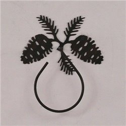 Wrought Iron Pine Cone Collection - Towel Holders