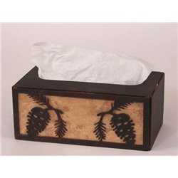 Wrought Iron Pine Cone Collection - Tissue Box Covers