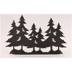 Wrought Iron Pine Tree Collection - Wall Mounted Pine Tree Scene Towel Bar