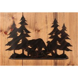 Wrought Iron Bear Collection - Wall Mounted Bear Family Towel Bar