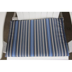 Adirondack Chair Seat Cushion - Blue Stripe