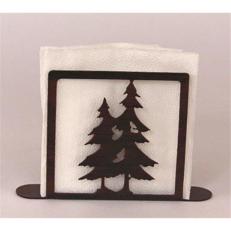 Wrought Iron Pine Tree Collection Paper Towel / Napkin Holders