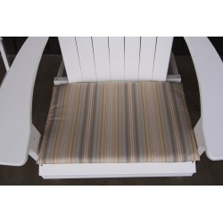 Adirondack Chair Seat Cushion - Beige Stripe