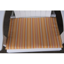 Adirondack Chair Seat Cushion - Orange Stripe