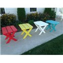Poly Folding End Table - 24 Color Options