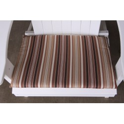 Adirondack Chair Seat Cushion - Maroon Stripe