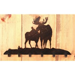 Wrought Iron Moose Collection - Wall Mounted Coat Hooks