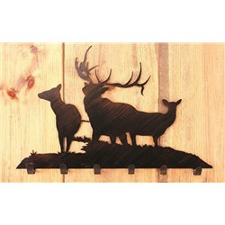 Wrought Iron Elk Collection - Wall Mounted Coat Hooks