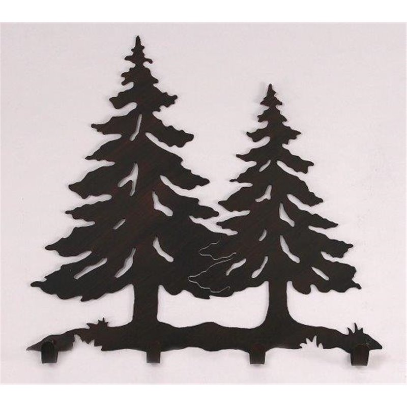 Wrought Iron Pine Tree Collection Wall Mounted Scene W