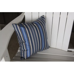 "20"" Outdoor Accessory Pillow for Swing / Bench / Swing Bed / Glider / Rocker / Chair - Blue Stripe"