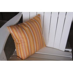 "20"" Outdoor Accessory Pillow for Swing / Bench / Swing Bed / Glider / Rocker / Chair - Orange Stripe"