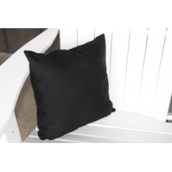 "20"" Outdoor Accessory Pillow for Swing / Bench / Swing Bed / Glider / Rocker / Chair - Black"