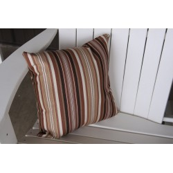 "20"" Outdoor Accessory Pillow for Swing / Bench / Swing Bed / Glider / Rocker / Chair - Maroon Stripe"
