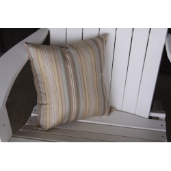 "20"" Outdoor Accessory Pillow for Swing / Bench / Swing Bed / Glider / Rocker / Chair - Gray Stripe"
