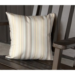 "20"" Outdoor Accessory Pillow for Swing / Bench / Swing Bed / Glider / Rocker / Chair - Beige Stripe"