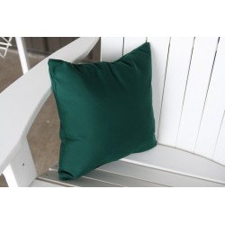 "20"" Outdoor Accessory Pillow for Swing / Bench / Swing Bed / Glider / Rocker / Chair - Forest Green"