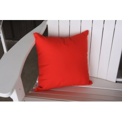 "20"" Outdoor Accessory Pillow for Swing / Bench / Swing Bed / Glider / Rocker / Chair - Red"