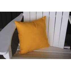 "20"" Outdoor Accessory Pillow for Swing / Bench / Swing Bed / Glider / Rocker / Chair - Yellow"