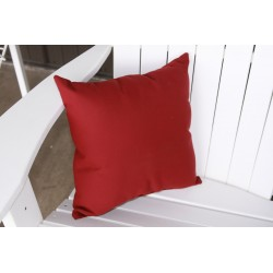 "20"" Outdoor Accessory Pillow for Swing / Bench / Swing Bed / Glider / Rocker / Chair - Burgundy"