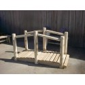White Cedar Log Decorative Garden Bridge - Rustic Style - 4/6/8 Ft.