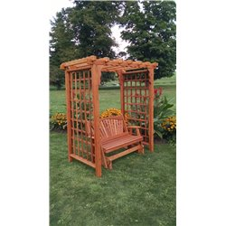 5' Arbor in Cedar Stain with Glider
