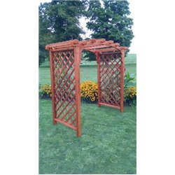 Jamesport 6' Arbor in Redwood Stain