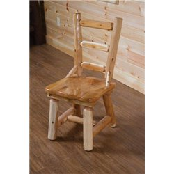 Rustic White Cedar Log Dining Side Chair