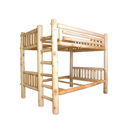 White Cedar Log Bunk Bed Bunk Bed Options Twin Over Twin