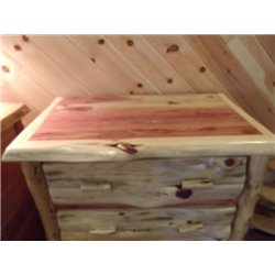 Rustic Red Cedar Log 3 Drawer Chest / Dresser