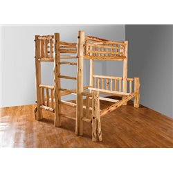 Twin over Full Red Cedar Log Bunk Bed