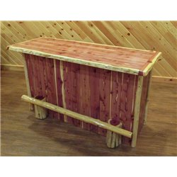 Rustic Red Cedar Log 6-Foot Bar