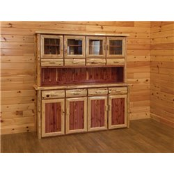 Rustic Red Cedar Log Hutch & Buffet