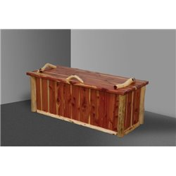 Rustic Red Cedar Log Blanket Chest