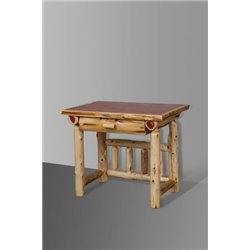 Rustic Red Cedar Log Office Desk
