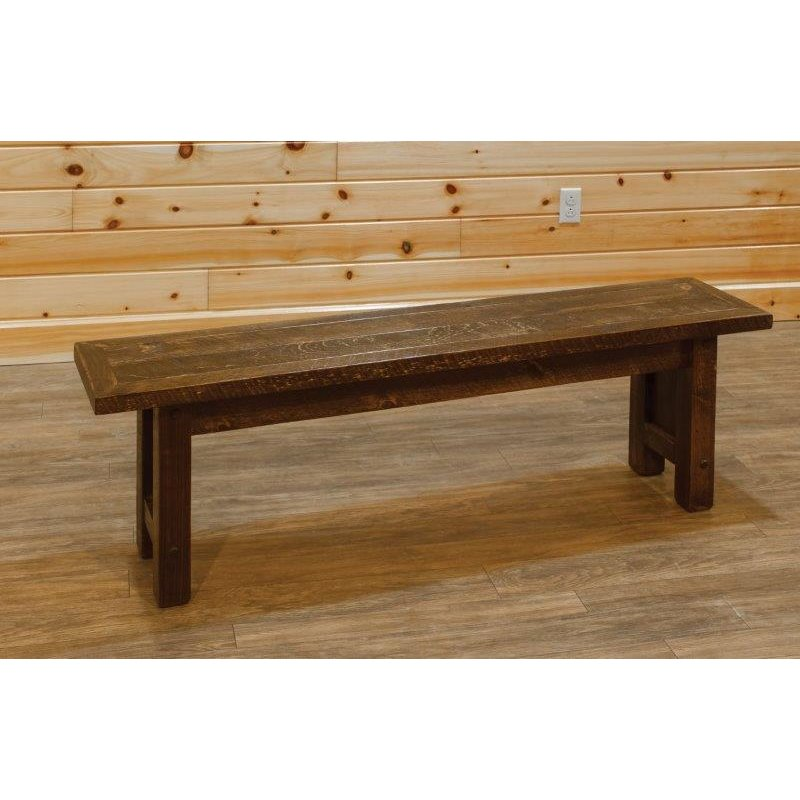 Barn Wood Style Dining Hall Bench