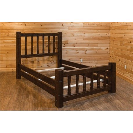 Barn Wood Style Mission Bed