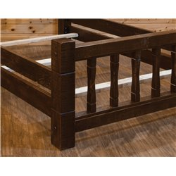 Barn Wood Style Timber Peg Mission Bed - Twin, Full, Queen, or King