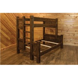 Barn Wood Style Timber Peg Bunk Bed - Multiple Sizes