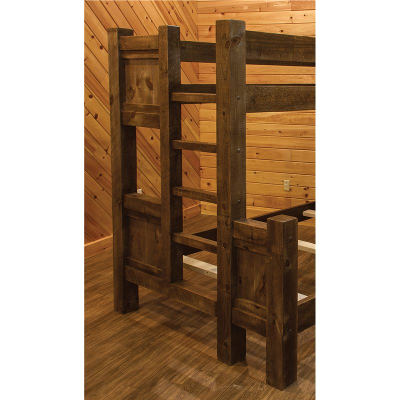 Barn Wood Style Bunk Bed