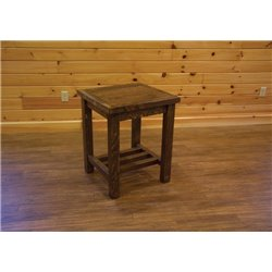 Barn Wood Style Timber Peg End Table/Nightstand