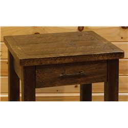 1 Drawer Side Table - Close Up