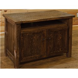 Barn Wood Style Timber Peg Entertainment Stand