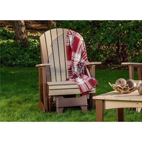 Poly Outdoor 2 Foot Adirondack Glider Chair
